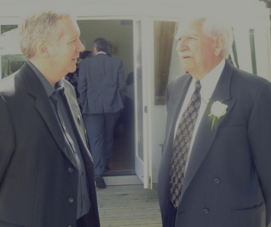 Deacon Randy with his Dad on the day of his ordination.